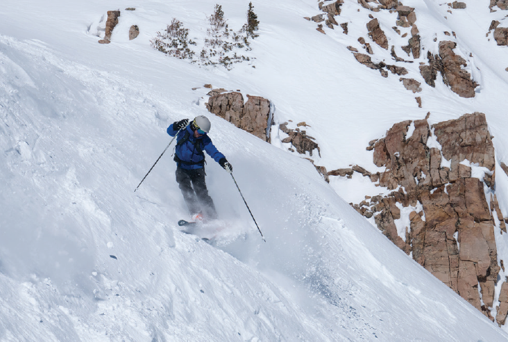 <p>S.K. Steven Houston III, MD, shreds the slopes on a recent trip to the Rocky Mountains.</p>